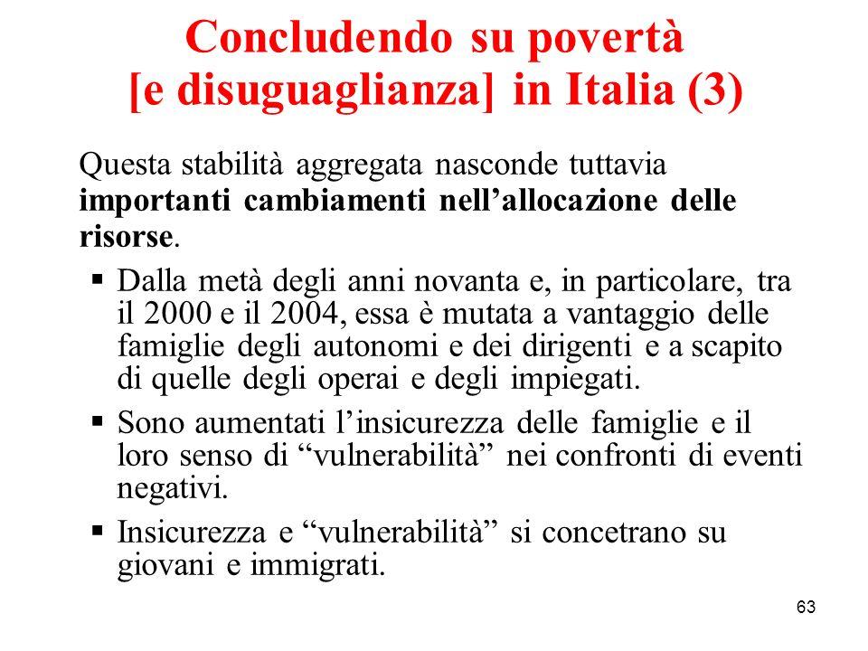 Concludendo su povertà [e disuguaglianza] in Italia (3)